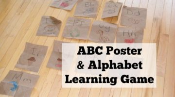 Easy ABC Poster and Alphabet Learning Game
