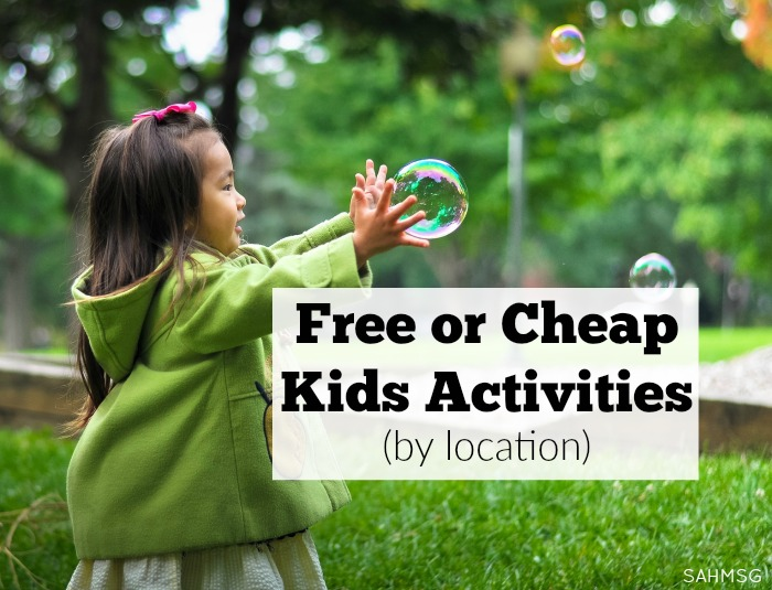 Free Or Cheap Kids Activities The Stay At Home Mom Survival Guide