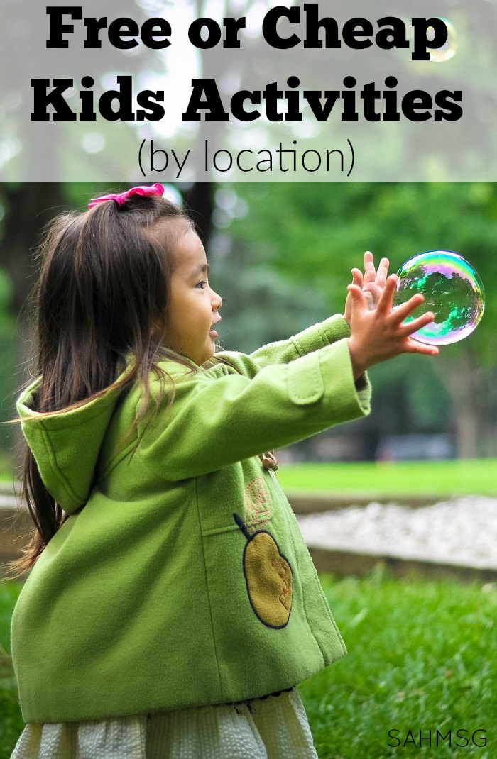 Grab some free or cheap kids activities by location to do in your area. This ongoing series shares great resources of free or inexpensive activities for kids in specific areas around the world. Have a great free or cheap activity for kids suggestion? Submit your ideas too!