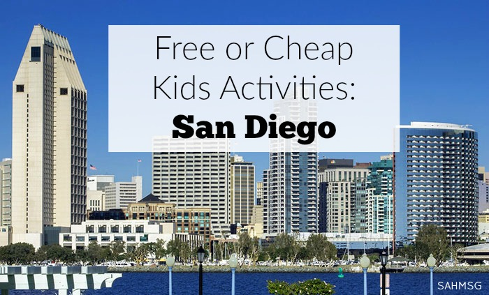 Collection of free or cheap kids activities in San Diego, California.