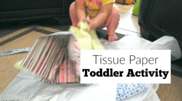 Tissue Paper Toddler Activity