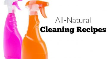 4 all-natural cleaning recipes to clean your home and save you money while supporting the health of you and your family.