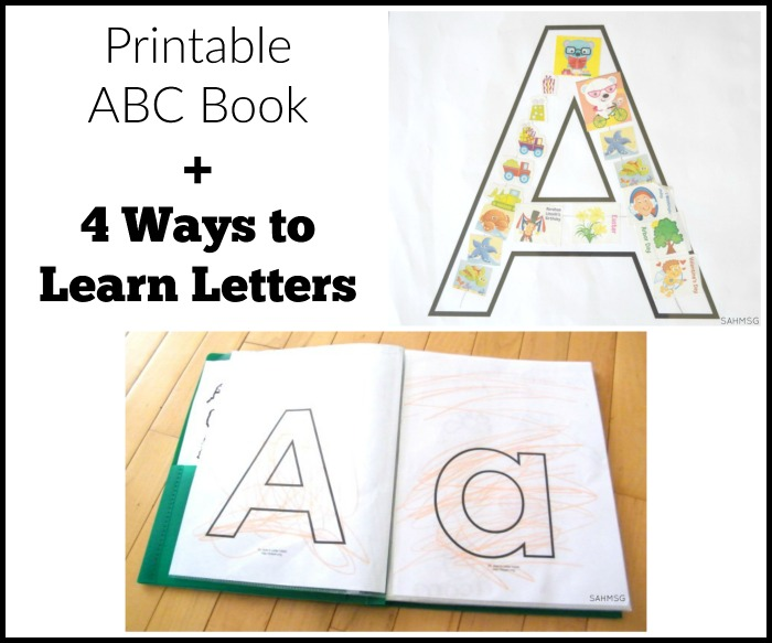 graphic regarding Printable Abc titled Printable ABC E-book: Preschool Discovering Things to do The Dwell