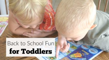 Make back to school time fun for toddlers so they get excited about learning too! Tot school activity ideas included.