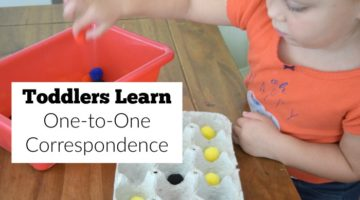 Help toddlers learn one-to-one correspondence with this egg carton activity that is so simple to create.