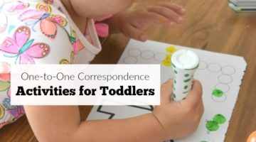 One-to-One Correspondence Activities for Toddlers