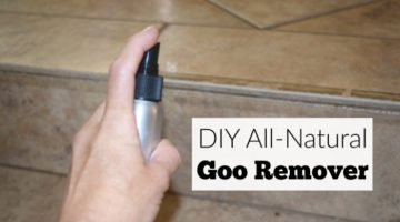 Get rid of stuck on goo with a natural cost-saving DIY all natural goo remover you can make at home.
