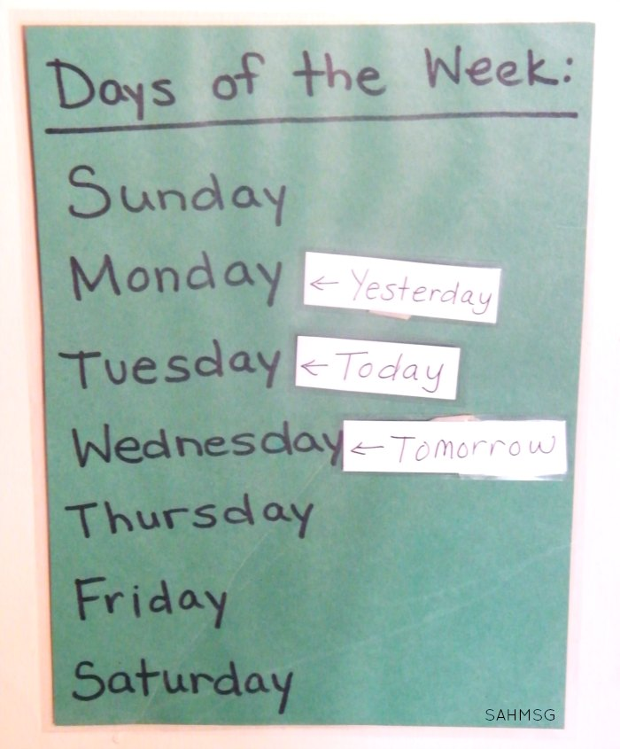 Implementing Calendar Time in your preschool at home curriculum (or preschool classroom).