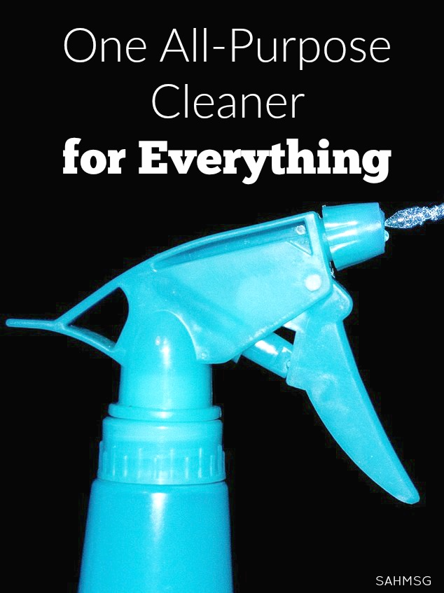 I was tired of chemicals in my cleaners drying out my skin and nails, getting on my kids hands, and cluttering up the cleaning closet. I switched to one all-purpose cleaner for everything: Thieves Household Cleaner. So inexpensive too!