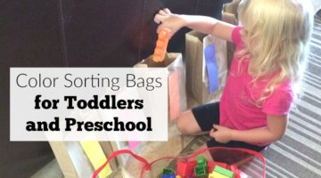 Color Sorting Bags for Toddlers and Preschool