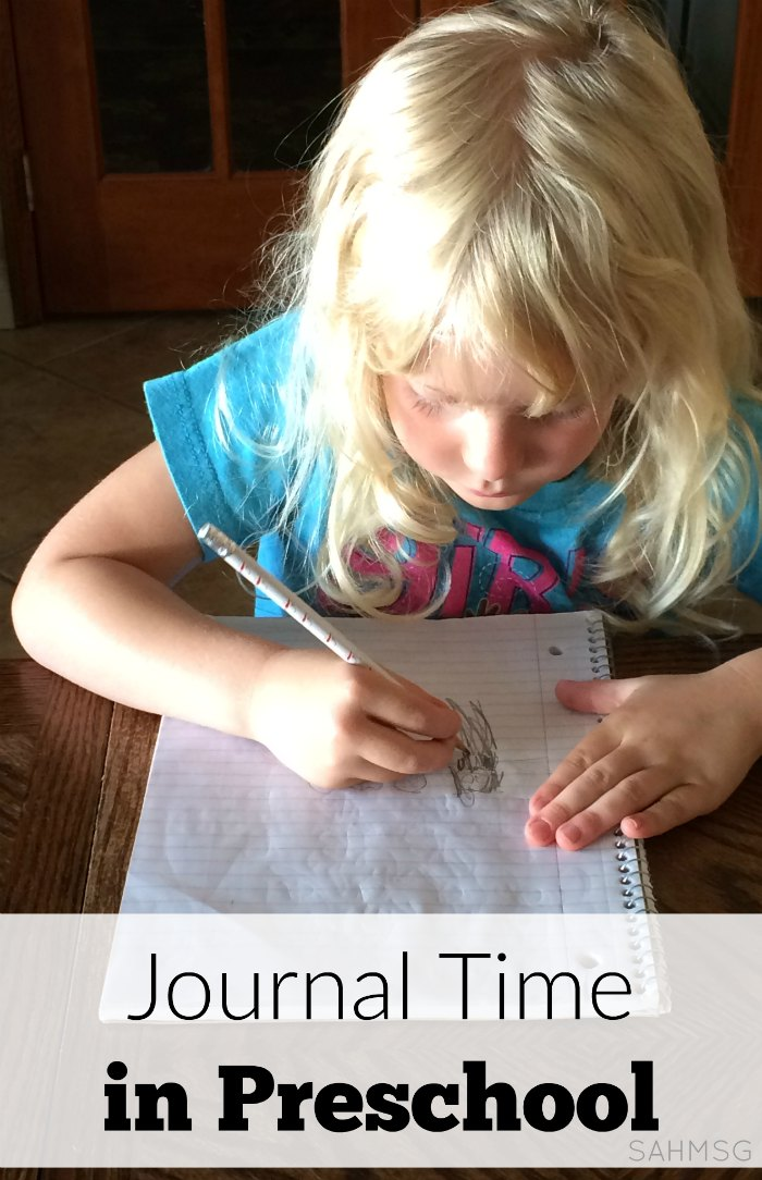 How to do journal time in preschool whether homeschool preschool or in a school.