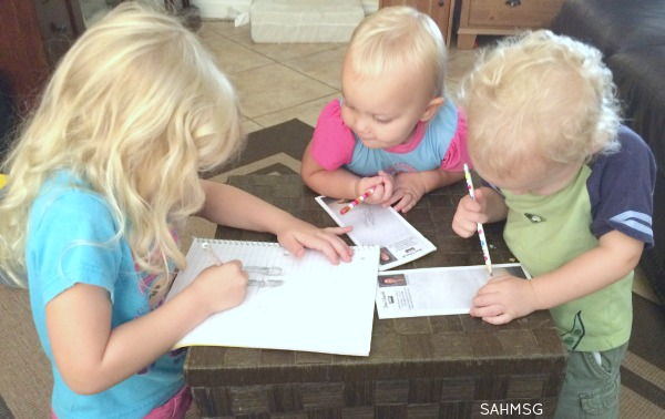 Journal time in preschool can be simple and use the supplies you have at home.