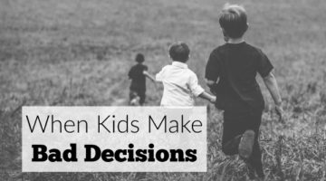 When your kids make bad decisions, it can feel like your own failure as a parent. It's not all about you, moms.