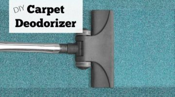 DIY carpet deodorizer will get the musty, dirty smell out of any rug. Great around pets and children too for toxin-free cleaning.