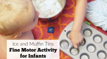 Ice and Muffin Tins Fine Motor Activity for Infants