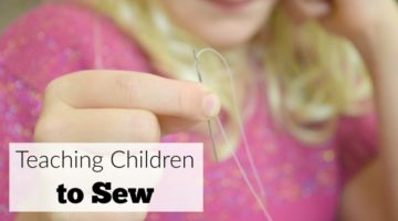 Teaching children to sew with a simple anf fun free printable sewing pattern and sewing project for kids.