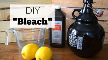 This DIY bleach recipe was great at whitening our white load . Using simple ingredients this DIY bleach uses the power of lemon to brighten clothes naturally.