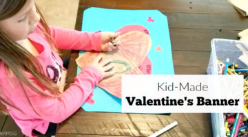 Kid-Made Valentine's Banner Craft