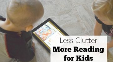 The kids book clutter is no fun, but kids reading is really important. Get less clutter, more reading for kids, with Skybrary Family one month free trial! #sponsored