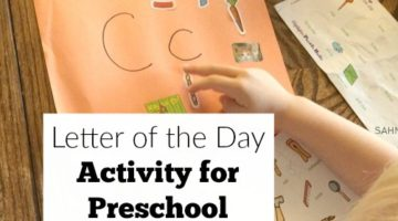 Letter of the day activities for preschool and a preschool at home curriculum that won't break the bank or take a lot of time to prep.