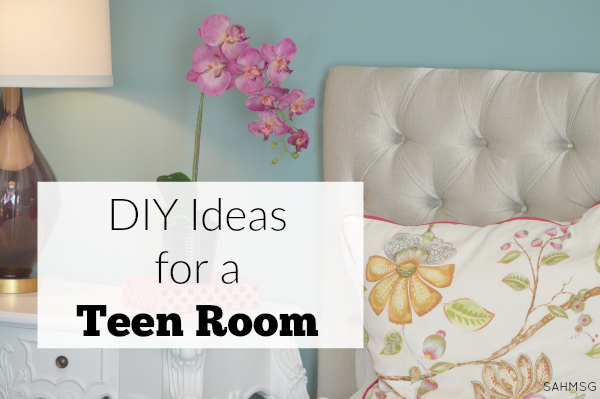 Teen room decorating ideas on a budget. These 3 DIY ideas for a teen room will help your teen decorate their room without spending a lot of money.