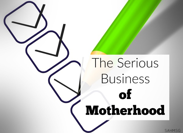 We can let the serious business of motherhood drag us down because we focus too much on the future without balancing that with being present in the joy of the moments we have with our children. Are you too focused on the serious parts of being a mom?
