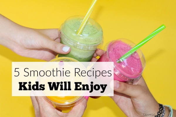 Picky eaters? Try these 5 smoothie recipes kids will enjoy to get more healthy fruits and vegetables into your picky child's diet.