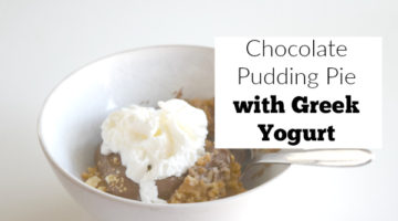 Chocolate Pudding Pie with Greek Yogurt