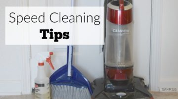 Speed clean like those YouTubers do! Speed Cleaning tips to keep a clean home.