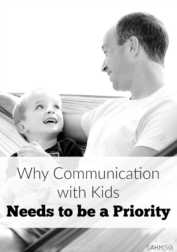 Why communication with our kids needs to be a priority from the start.