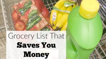 Grocery List That Saves You Money