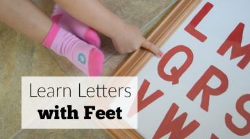 Learn Letters with Feet