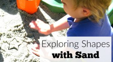 Exploring Shapes with Sand Sensory Activity