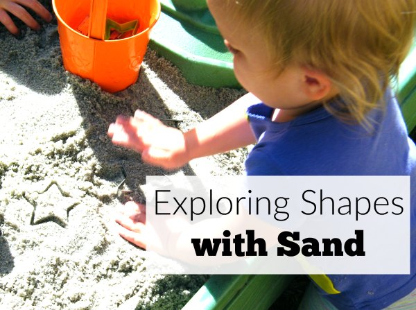 Exploring shapes with sand sensory activity lets kids get their hands dirty while guiding them to learn basic concepts in a hands-on way. So fun for brain breaks outside.