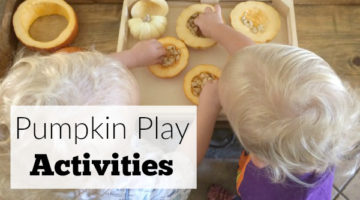 Toddler Pumpkin Activities