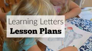 Teaching Letters Lesson Plans-Activities for toddlers or preschool with complete weekly lesson plans and printables. #sponsored