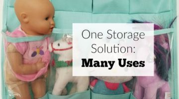 One storage solution with many uses from baby storage to toys to hair accessories and kitchen items. This item is so versatile.