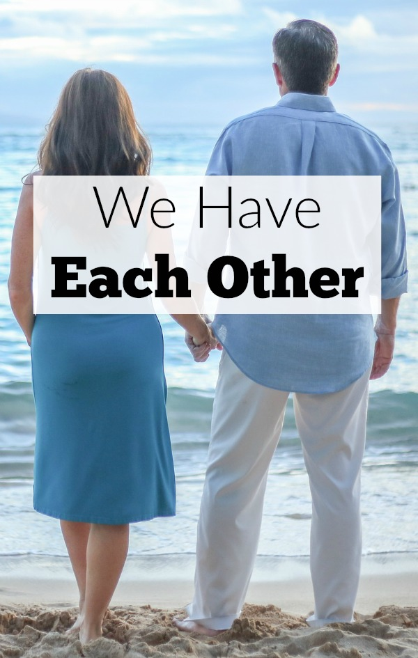 In the thick of parenting, we moms can feel we are all alone. The challenges are steep, but when we really take a look as moms and dads, husbands and wives, we have each other.