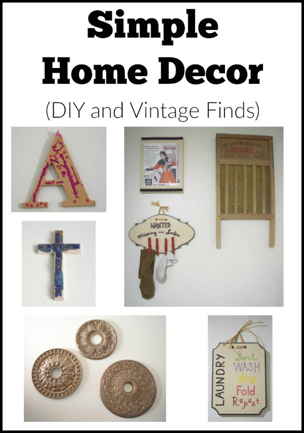 Simple Home decor - DIY and vintage finds to decorate your home on a budget.