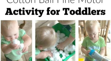 Cotton Ball Toddler Fine Motor Activity