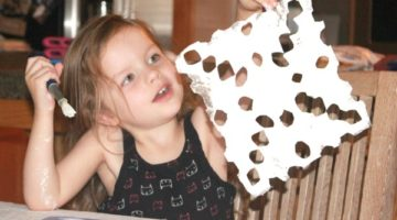 Snowflake Foil Craft for Kids