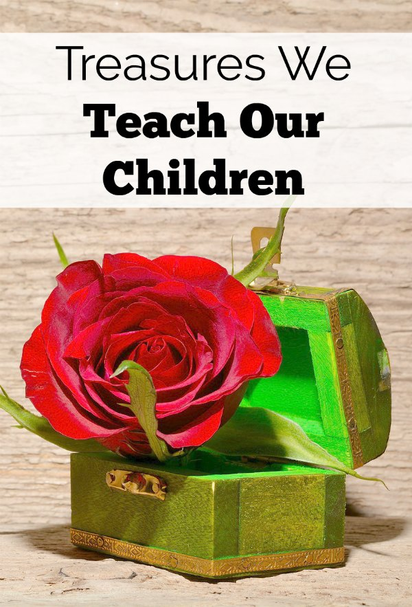 The treasures we teach our children are really what is most important each day. Why are we so hard on ourselves? Do we want to leave our children in stress and worry or love and faith?