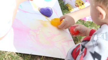 Rainbow Ice Painting Preschool Activity