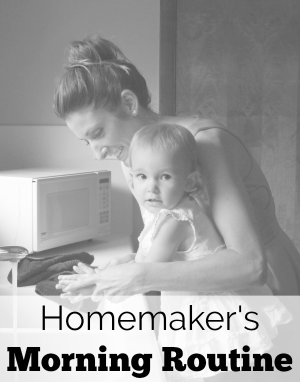 Get this simple homemaker morning routine to feel more organized and successful each day.