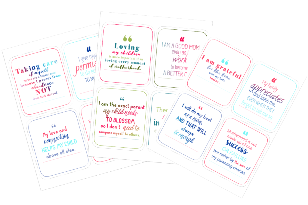 affirmation cards for moms