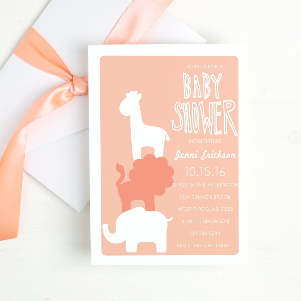 Baby shower invitations that offer printed proof so you can make sure your baby shower invitations are just they way you want. Animal baby shower invitations available for boy baby shower or girl baby shower plus cards for any occasion.