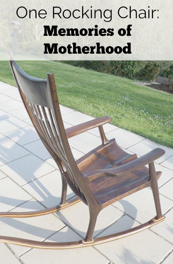In my rocking chair: memories of motherhood.