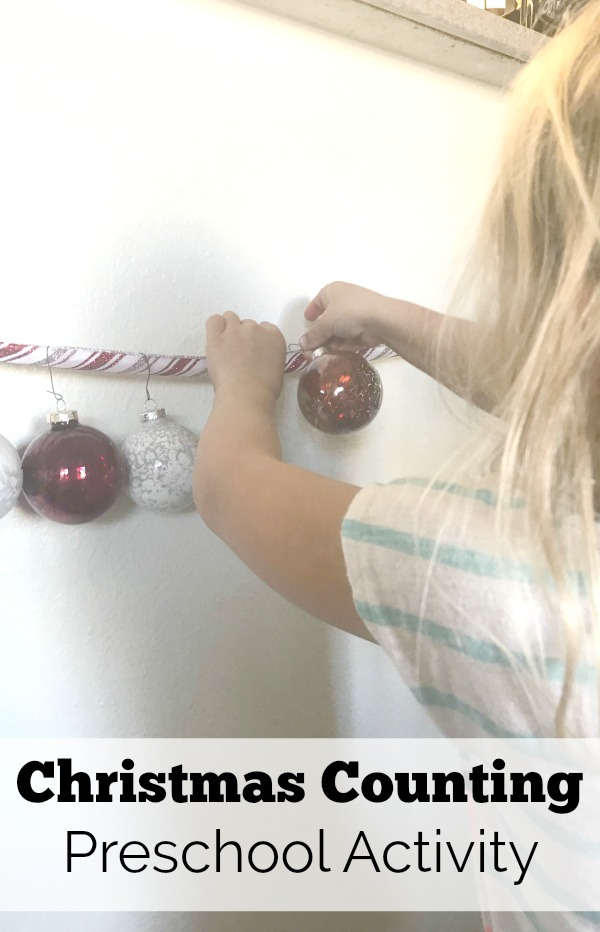 Christmas counting preschool activity is a fun and festive way to teach preschoolers number order and fine motor skills.