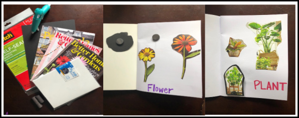 A simple DIY magnet learning busy book for kids that teaches pre-reading skills and matching. This one is great for toddlers or preschool kids.