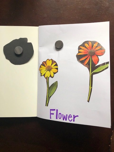 DIY magnet learning busy book for preschool and toddlers